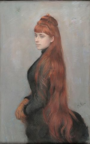 Paul César Helleu - Portrait d'Alice Guérin, Helleu's future wife