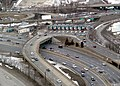 Allston tolls and u-turn ramp, February 2013.JPG