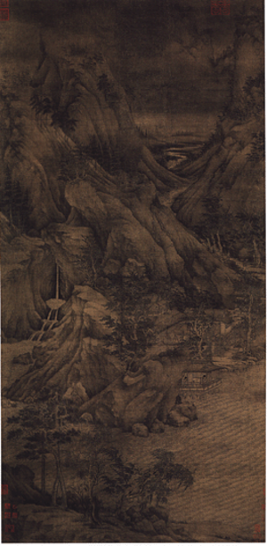 James Cahill (art historian) - The Riverbank is attributed to Dong Yuan, but Cahill believed it was a forgery by Zhang Daqian.
