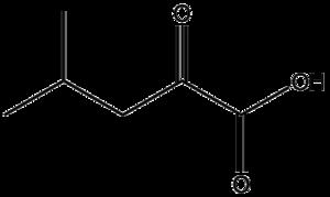 Alpha-Ketoisocaproic acid - Image: Alpha ketoisocaproic acid