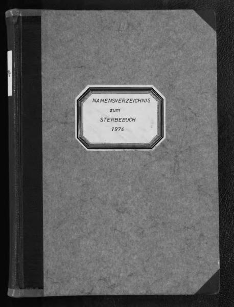 File:Alphabetisches Namensverzeichnis zum Sterberegister des Standesamtes Minden, 1974.djvu