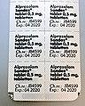 Alprazolam Sandoz Xanax 0.5mg pills.jpg