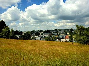 Altenberg, Blick zur Kirche