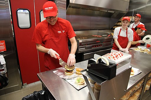 Ambassador Jacobson Helps Out at Five Guys Burgers (9133435739)