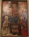 Ambito fiorentino di lorenzo lippi, Madonna in trono e santi, 1643, 01.JPG