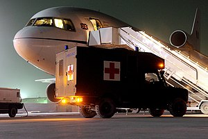 RAF Centre of Aviation Medicine - Royal Air Force Tristar at Kandahar Airfield in June 2008