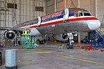 American Airlines B757-200 forward fuselage, service and emergency doors open.jpg