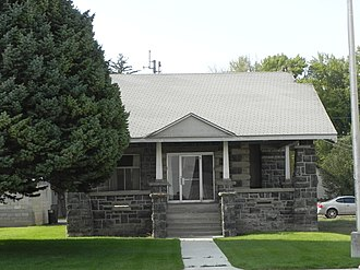 National Register of Historic Places listings in Lincoln County, Idaho - Image: American Legion Hall in Shoshone Idaho