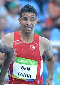 Amor Ben Yahia runs 3,000-meter steeplechase at Rio Olympic Games photos by Tim Hipps, U.S. Army IMCOM Public Affairs (28974477421) (cropped).jpg