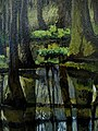 "Amy Feger, ""Panorama at Ebeneezer Swamp""oil on canvas (detail) 3 (3620128452).jpg"