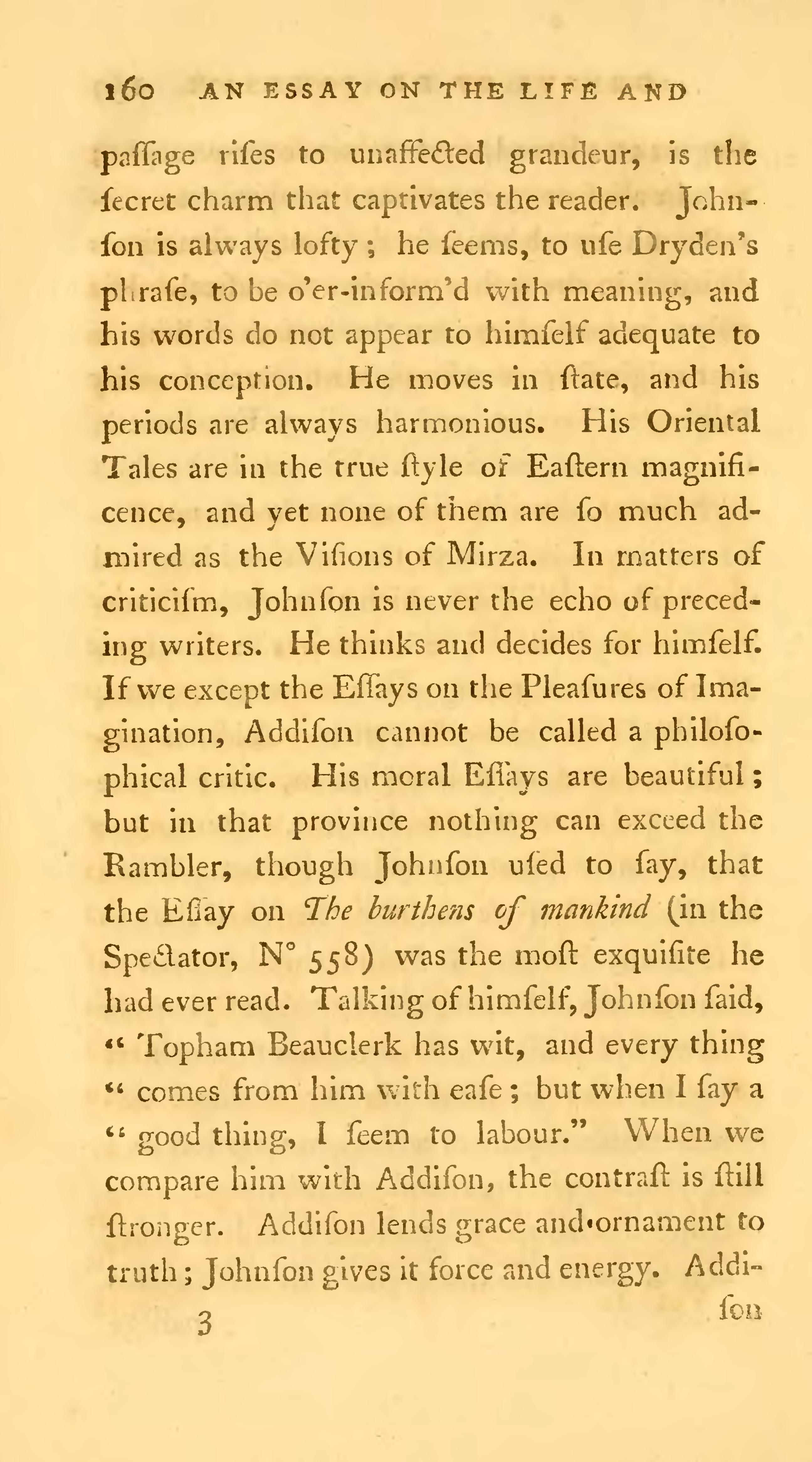 essay on studies by samuel johnson More than samuel johnson samuel johnson in context is a  in johnson and in eighteenth-century studies,  essay on pope, hume, sterne, and johnson oxford.