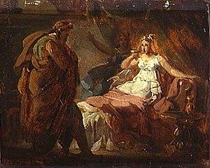 Anatole Devosge - La Mort de Sophonisbe, work attributed to Anatole Devosge.