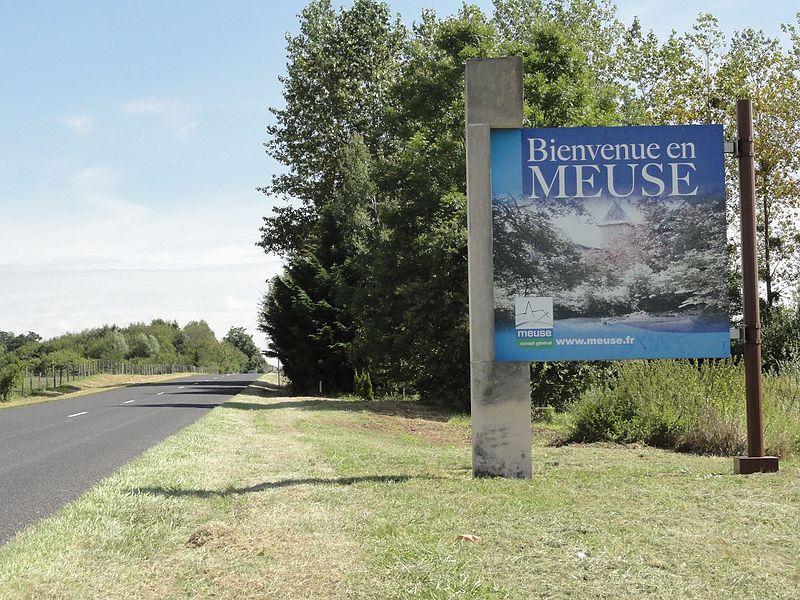 Andernay (Meuse) panneau bienvenue en Meuse