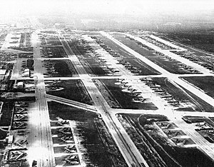 Andersen Air Force Base - About 150 B-52s at Andersen AFB, fall 1972