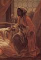 André Van Loo, détail, figure de servante africaine, 1747.tiff