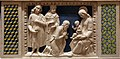 Andrea della robbia, pala di fontecastello con dio padre e angeli, 07 adorazione dei magi.jpg