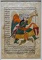 Angel Israfil, from Aja'ib al-makhluqat wa ghara'ib al-mawjudat (The Wonders of Creations and Oddities of Existence) by al-Qazvini, Iraq or Turkey, early 1400s, ink, color - Freer Gallery of Art - DSC04720.jpg