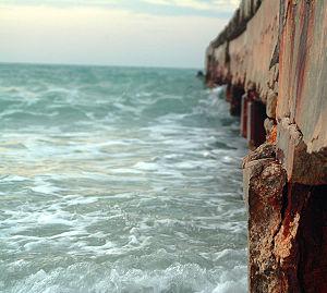 Anna Maria, Florida - An erosion prevention pier on Anna Maria Island, Florida.