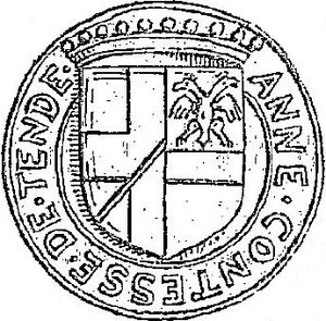 Anne Lascaris - Seal of Anna, 1534