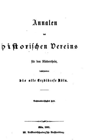 File:Annalen des Historischen Vereins für den Niederrhein 36 (1881).djvu