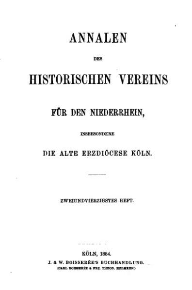 File:Annalen des Historischen Vereins für den Niederrhein 42 (1884).djvu
