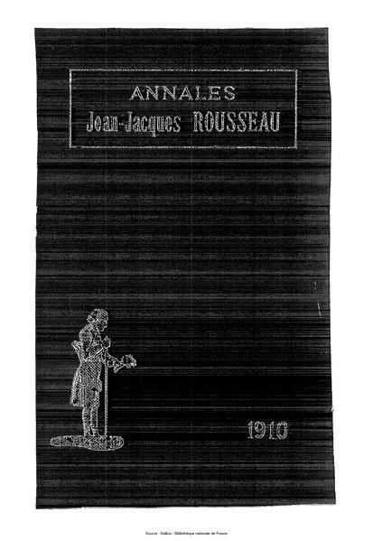 File:Annales de la société Jean-Jacques Rousseau, tome 6.djvu