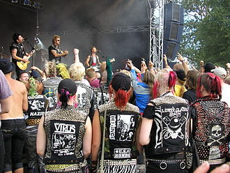 Cut-off - Punk vests are often made from leather and heavily decorated with metal studs