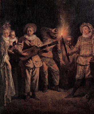 Comédie-Italienne - L'amour au théâtre italien by Watteau