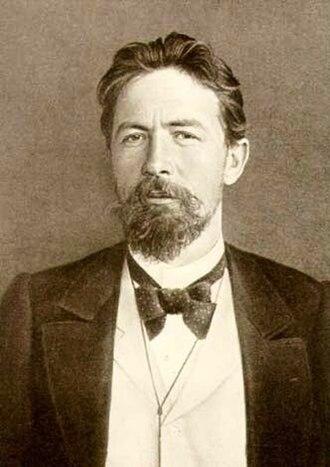 Anton Chekhov - Image: Anton Chekhov with bow tie sepia image