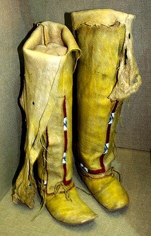 Oklahoma History Center - Image: Arapaho leggings moccasins 1910 OHS
