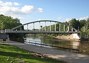 Arch bridge in Tartu