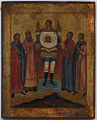 Archangel with mandylion (18-19 c., priv. coll).jpg