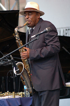 English: Archie Shepp during an open-air conce...