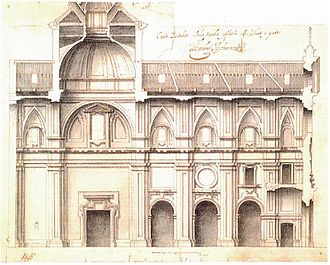 Teodoro Ardemans - project by Teodoro de Ardemans for the church of Saints Justo and Pastor of Madrid, 1698