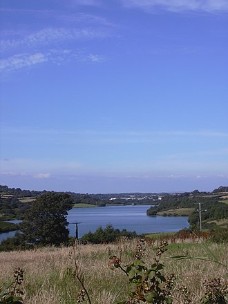 Treverva - Argal Reservoir (the boundary between the parishes of Budock and Mabe runs through the reservoir)