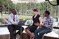 Ariel and Morris being interviewed by Larry Madowo for NTV (6927348668).jpg