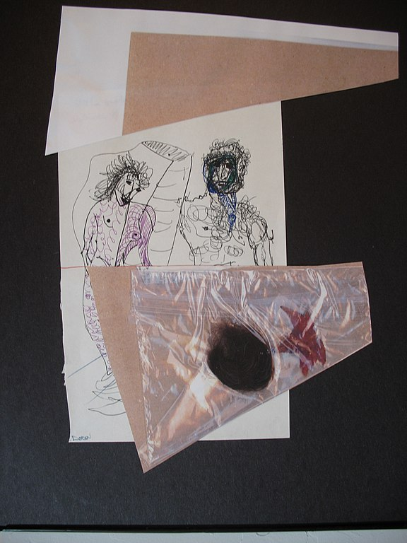 File Art Mixed Media Untitled Conversation Ink Leaf Hair