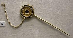Domagnano Treasure - Image: Arte ostrogota, spilla per capelli, da domagnano, san marino, 500 ca