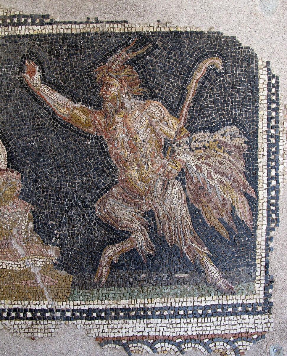 Arte romana, mosaico con eros, 04