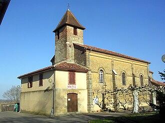 Arthez-d'Armagnac - Church and town hall