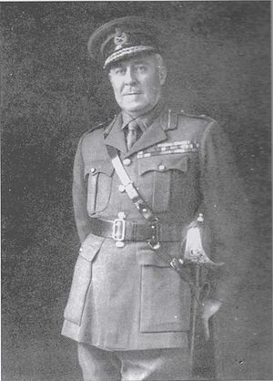 Arthur Hoskins - Arthur Hoskins pictured when a Major-General