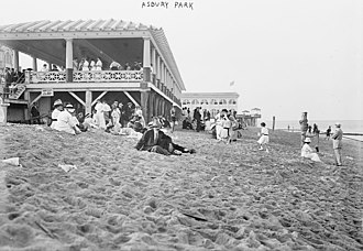 Asbury Park, New Jersey - Asbury Park beach, early twentieth century