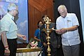 Ashok Gajapathi Raju Pusapati lighting the lamp to inaugurate the 24th Steering Committee meeting of the Cooperative Development of Operational Safety & Continuing Airworthiness Programme – South Asia.jpg