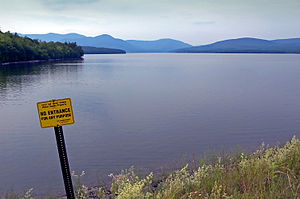Environmental issues in New York City - The Ashokan Reservoir is one of several providing drinking water for New York City.