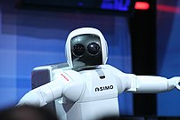 ASIMO is physically anthropomorphic.