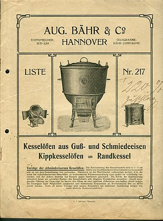 Wash copper - An invoice for a free-standing Kesselöfen