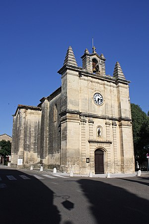 Aujargues - The church in Aujargues