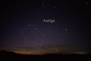 Auriga (constellation) - The constellation Auriga as it can be seen by the naked eye.