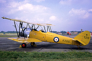 Avro Tutor - The sole surviving Tutor wearing the 1930s yellow training colour scheme at RAF Abingdon in 1968