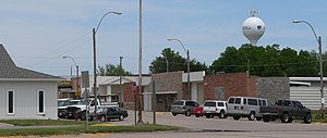 Axtell, Nebraska - Downtown Axtell: east side of Main Street